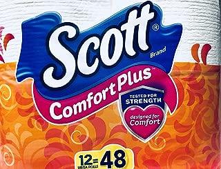 Scott ComfortPlus Toilet Paper, 12 Mega Roll, 5544 ct, Bath Tissue
