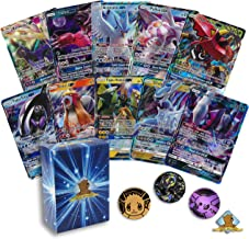 5 Pokemon Card Lot All Legendary GX Ultra RARES! NO Duplication! 1 Random Pokemon Coin! Includes Golden Groundhog Deck Box!