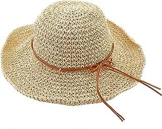 Women's Wide Brim Caps Foldable Summer Beach Sun Straw Hats