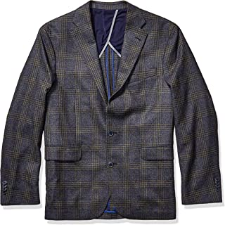 Men's Slim Fit Blazer, Blue/Olive Plaid, 40S