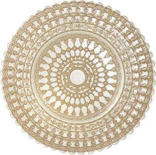 Elegance Glass Charger Plate Serveware Accessories, Rose Gold