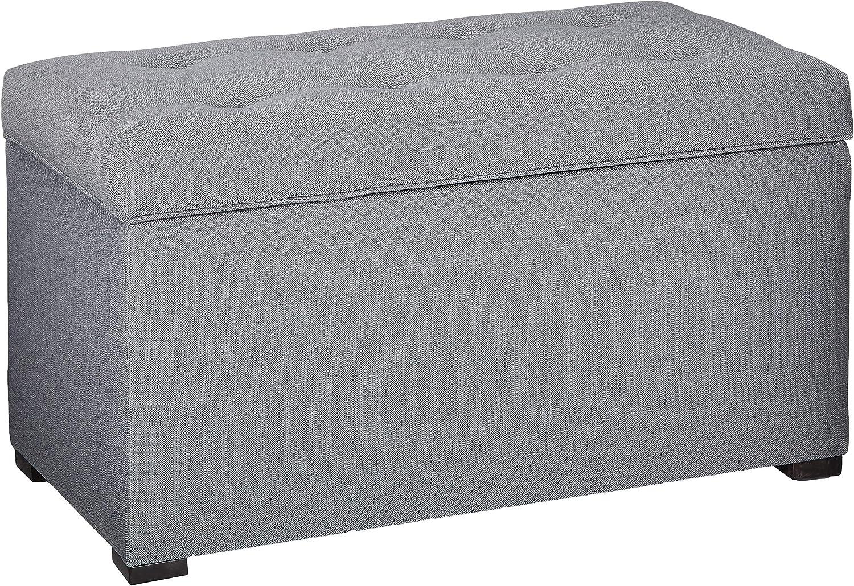 MJL Furniture Designs Angela Collection Button Tufted Upholstered Lift Top Medium Sized Bedroom Chest Storage Trunk, HJM100 Series, Sea Mist: Furniture & Decor