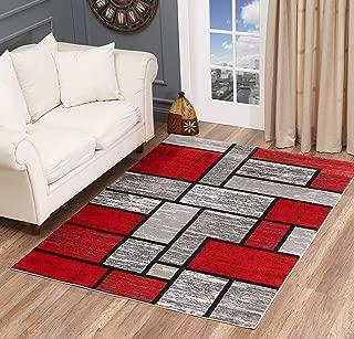 grey black red room