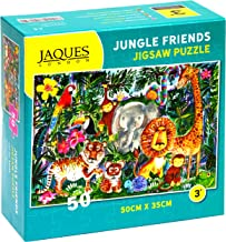 Jaques of London JUNGLE FRIENDS jigsaw puzzle for kids – 50 piece Jigsaw puzzle for children – recommended puzzle for 3 4 5 6 year olds