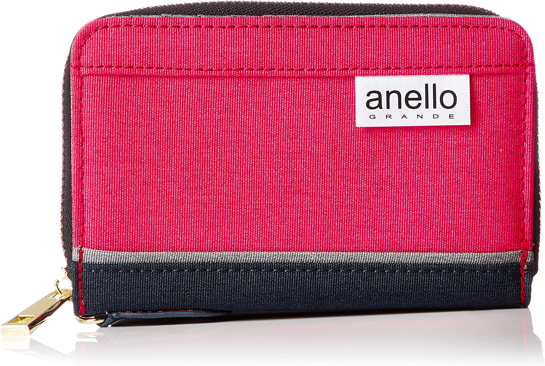 anello GRANDE SC black tone Max 48% OFF poly red round GJ-A0812 favorite zip wallet
