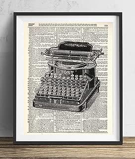 Vintage Typewriter Illustration (#1) Dictionary Art Print 8x10