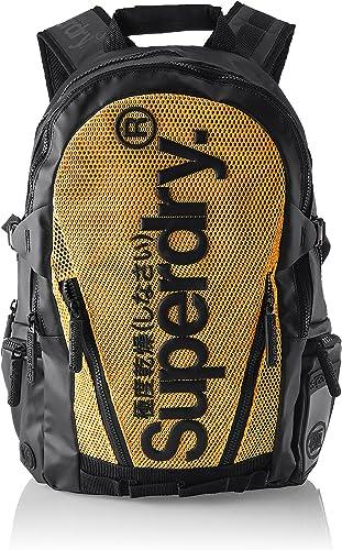 Superdry Herren Meshtarpbackpack Rucksack, grau, 34x45x14 centimeters