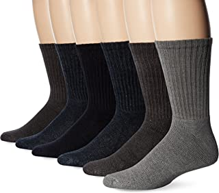 Basic Cushion Crew Socks, 6 Pair
