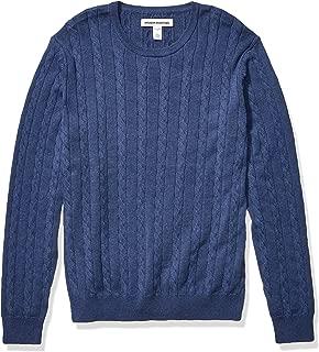 Men's Crewneck Cable Cotton Sweater