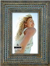 إطار صور من الخرز المرفوع باللون الأزرق والذهبي من شركة مالدن إنترناشيونال ديزاينز، مقاس 10.16 سم × 15.24 سم، باللون الأزرق