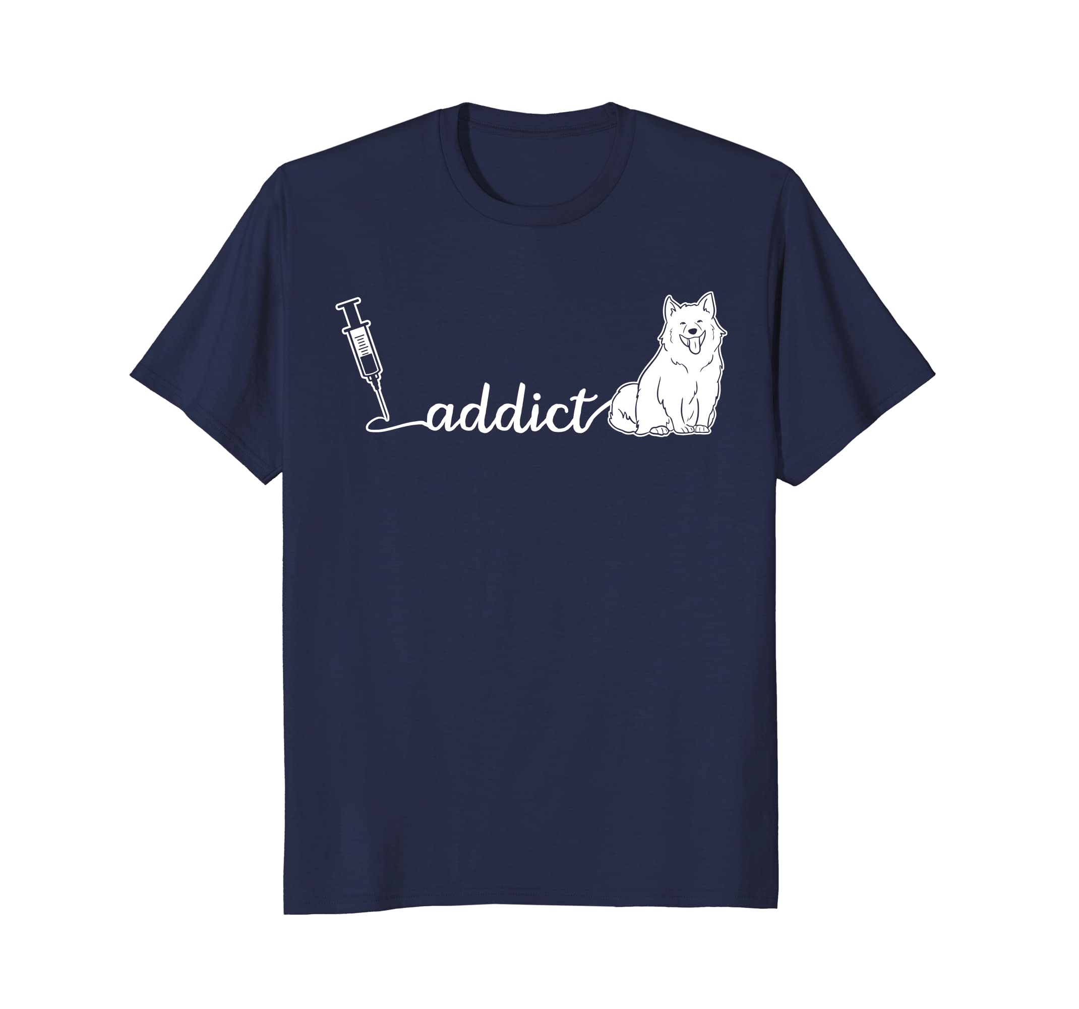 Addict Samoyed Funny t-shirt as Cute Tee Gift for Dog Lovers-AZP