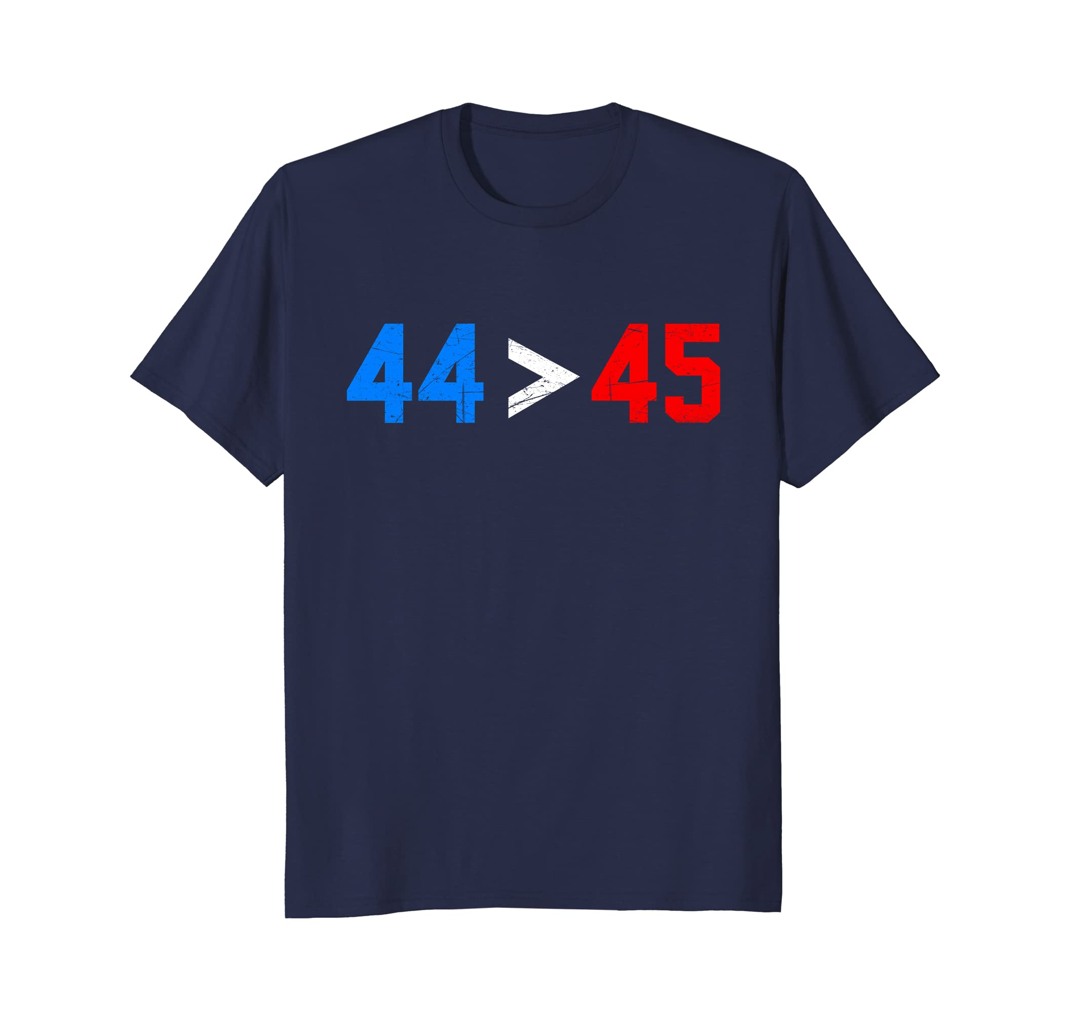 44 > 45, President Obama 44 Greater Than Trump 45 T-Shirt-TH