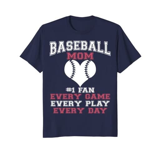 d80f959f9c Amazon.com: Fun Baseball Mom T-Shirt Every Day: Clothing