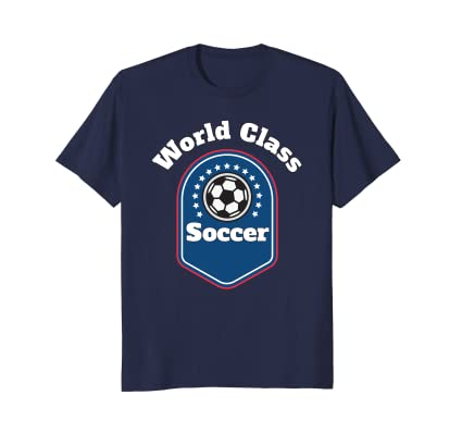 World Class Soccer lifestyle t-shirt all ages futbol fans