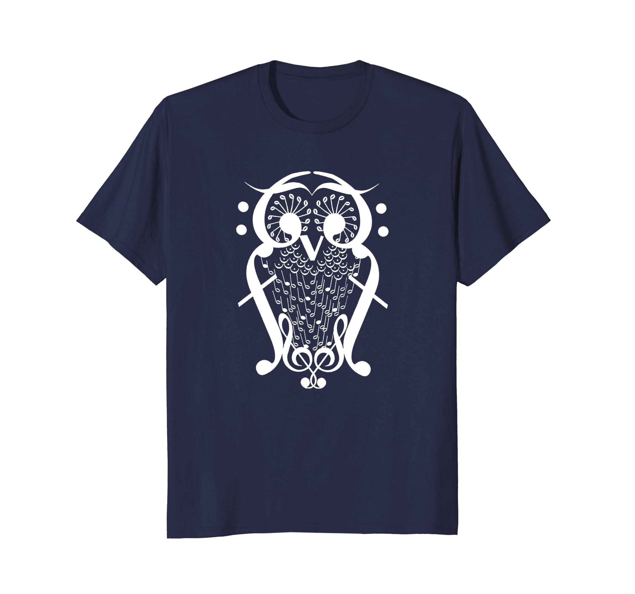 MusiciAn Music Teacher Owl Bird Note Shirt-AZP