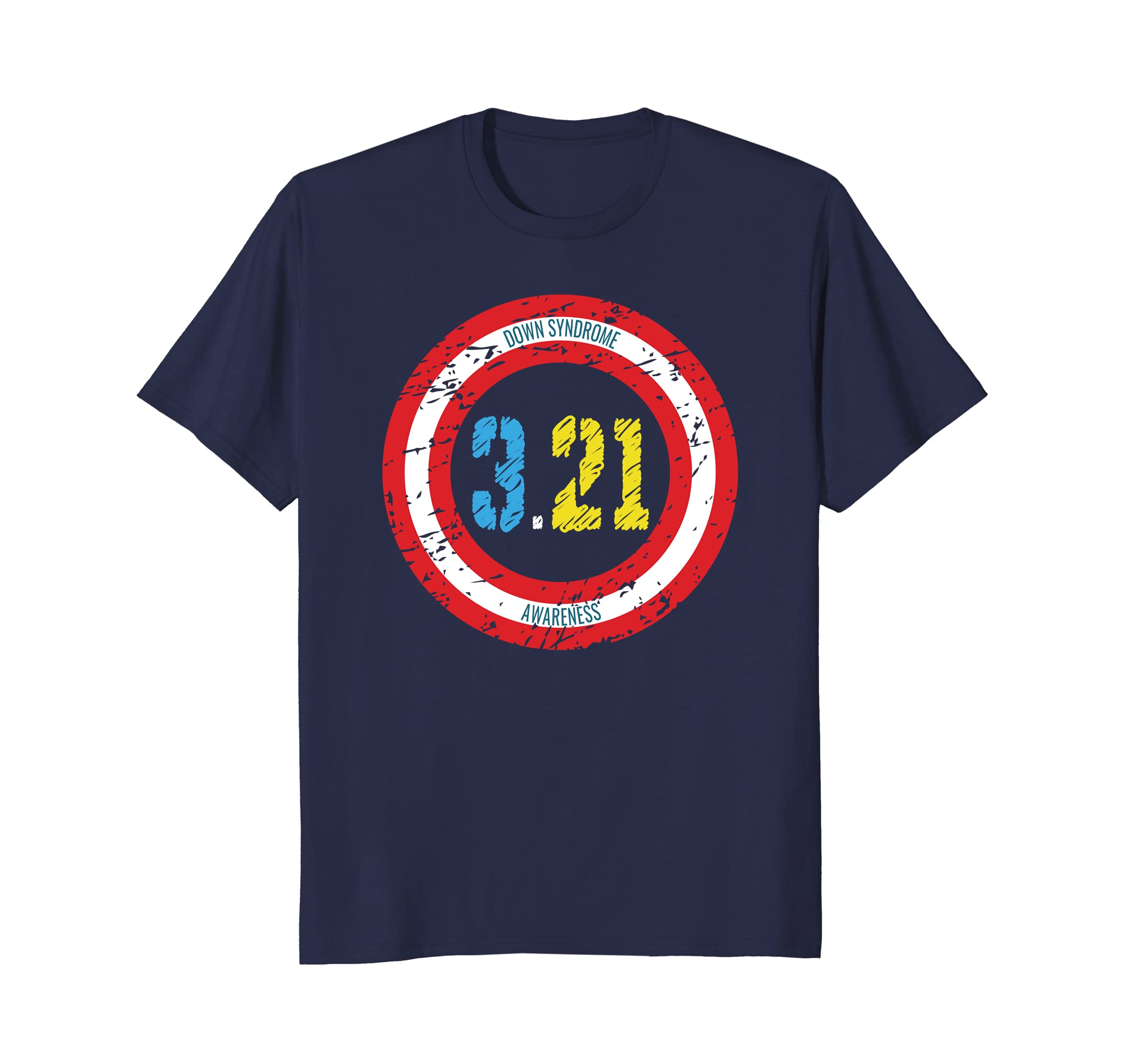 World Down Syndrome Day Superhero T-Shirt for Kids Moms Dads-TH