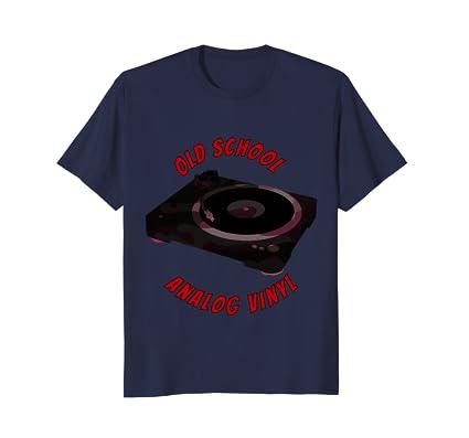 Old School Analog Vinyl t-shirt for retro hipster record DJs