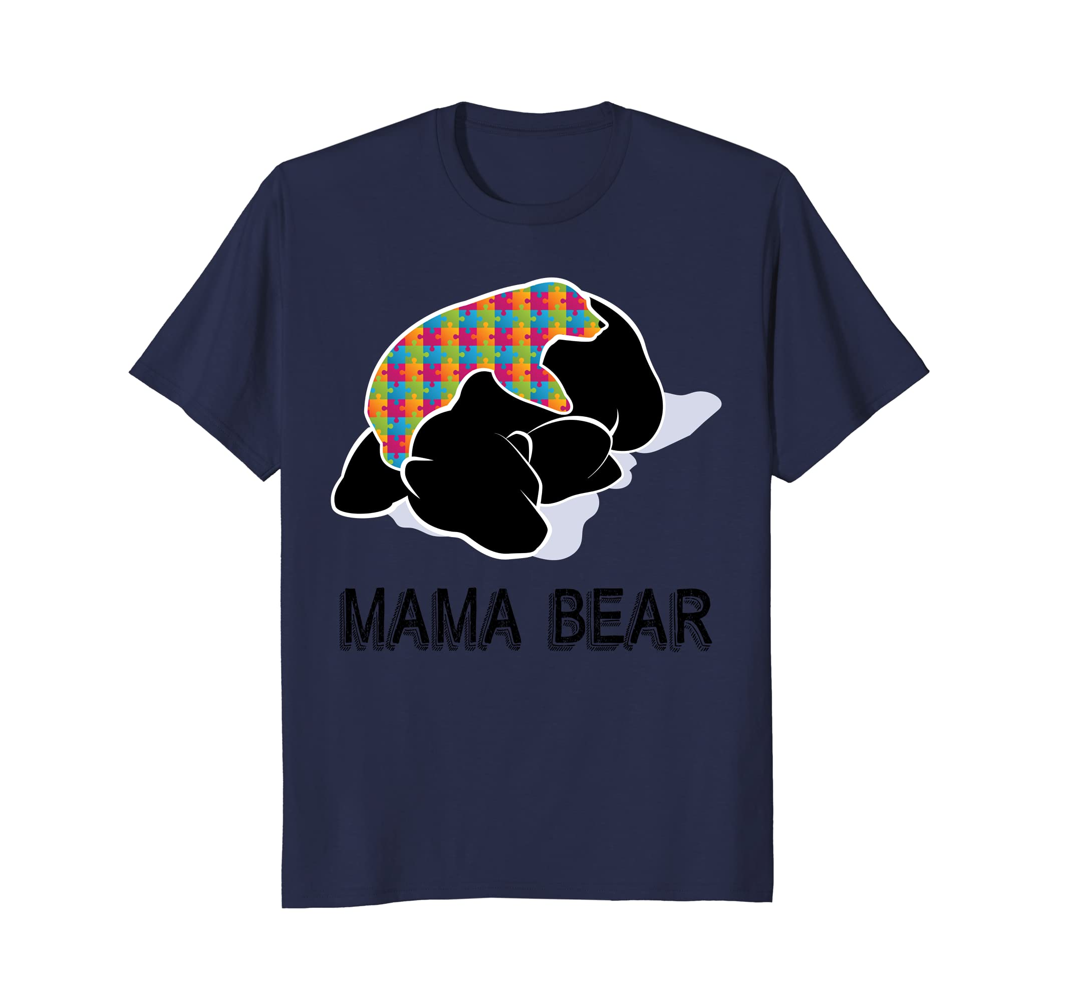 '2018 Autism Awareness Mom' Awesome Autism Mama Bear Shirt-ah my shirt one gift
