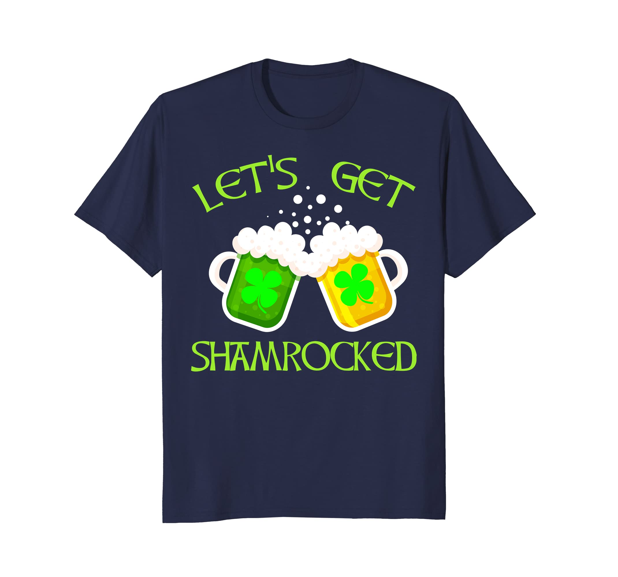 Let's Get Shamrocked St Patrick Day Shirt Leprechaun T Shirt-TH