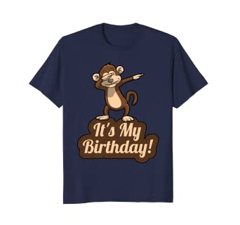 Its My Birthday Dabbing Monkey T Shirt For Men Women