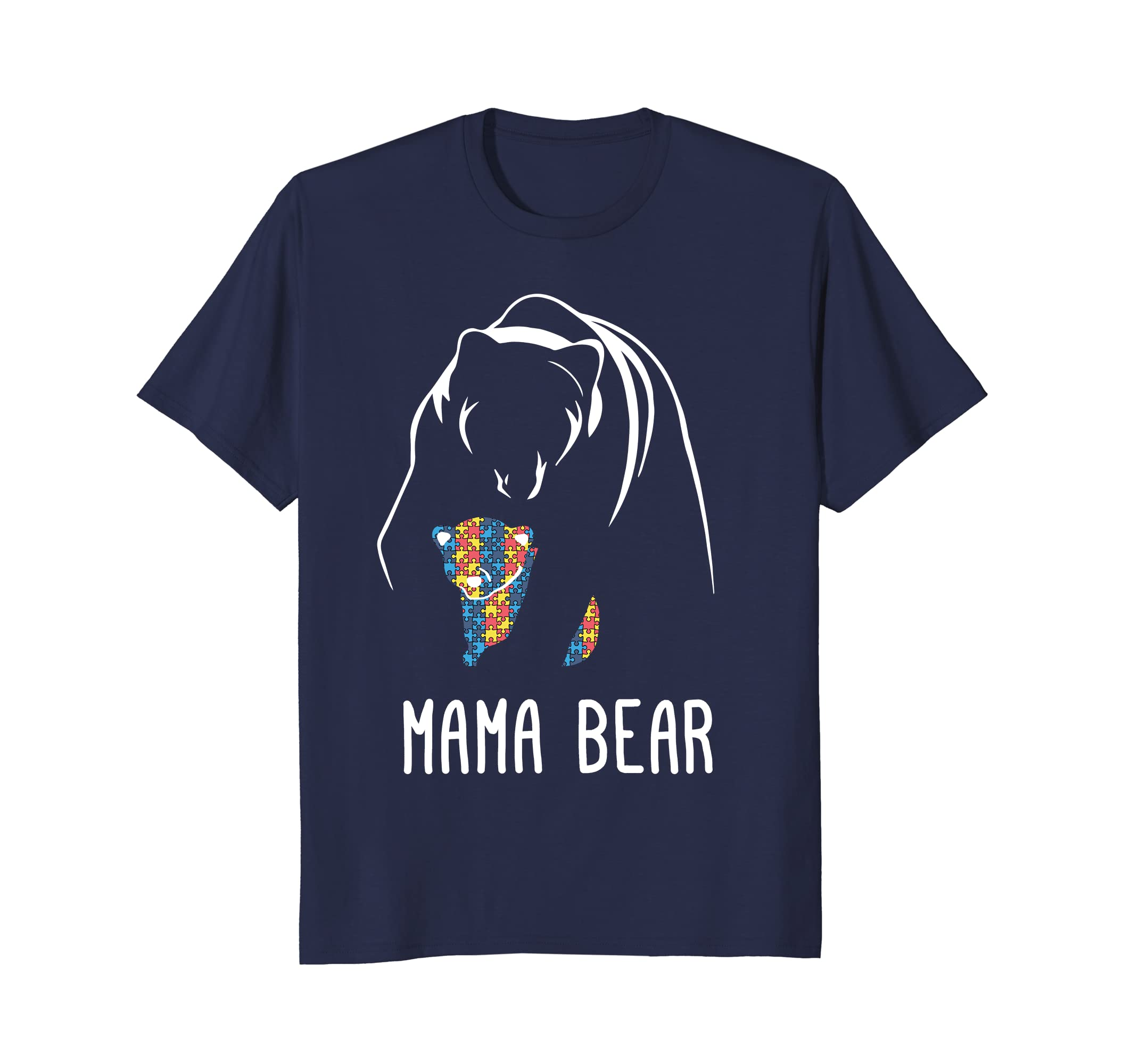 2018 Autism Mama Bear - Men, Women, Young Shirt-TH