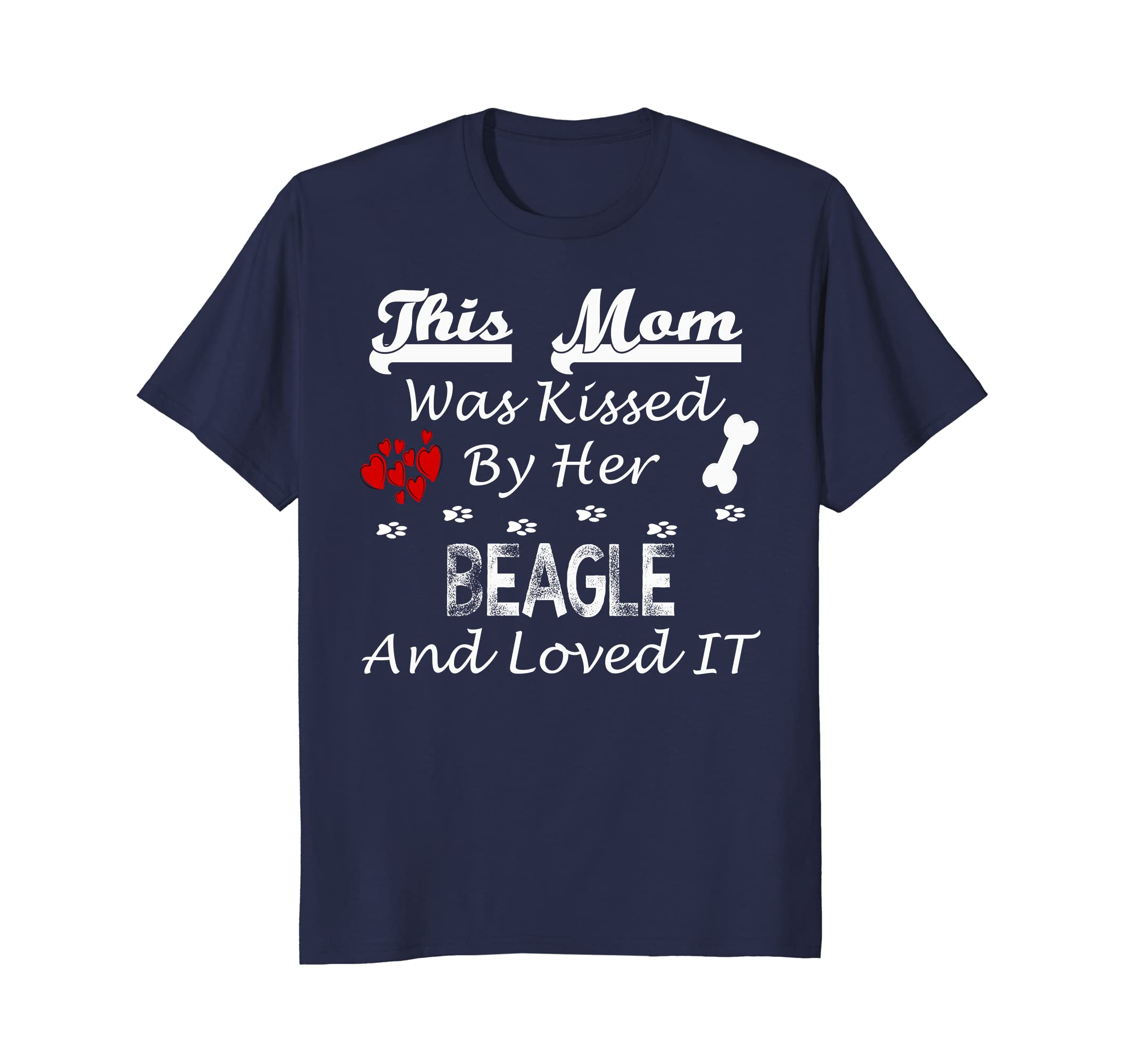Funny Beagle Dog Tshirt This Mom Kissed By Beagle Loved It-AZP