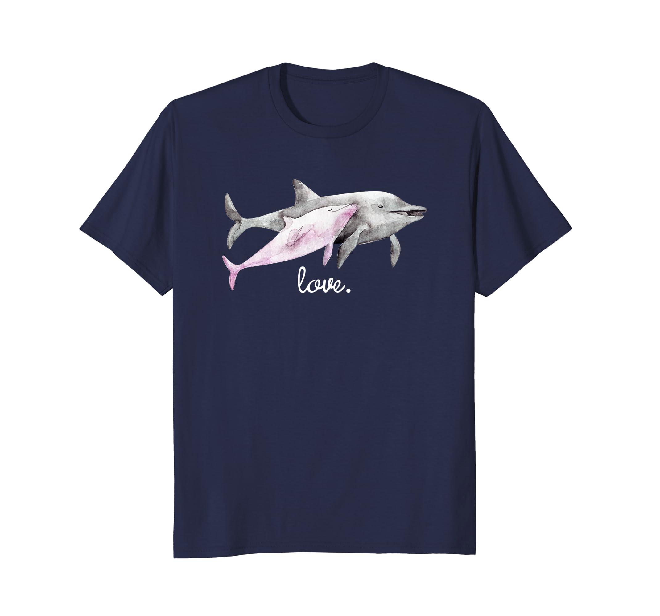Little Girls Summer T-Shirt Kid's Dolphin Love T Shirt Gift-AZP