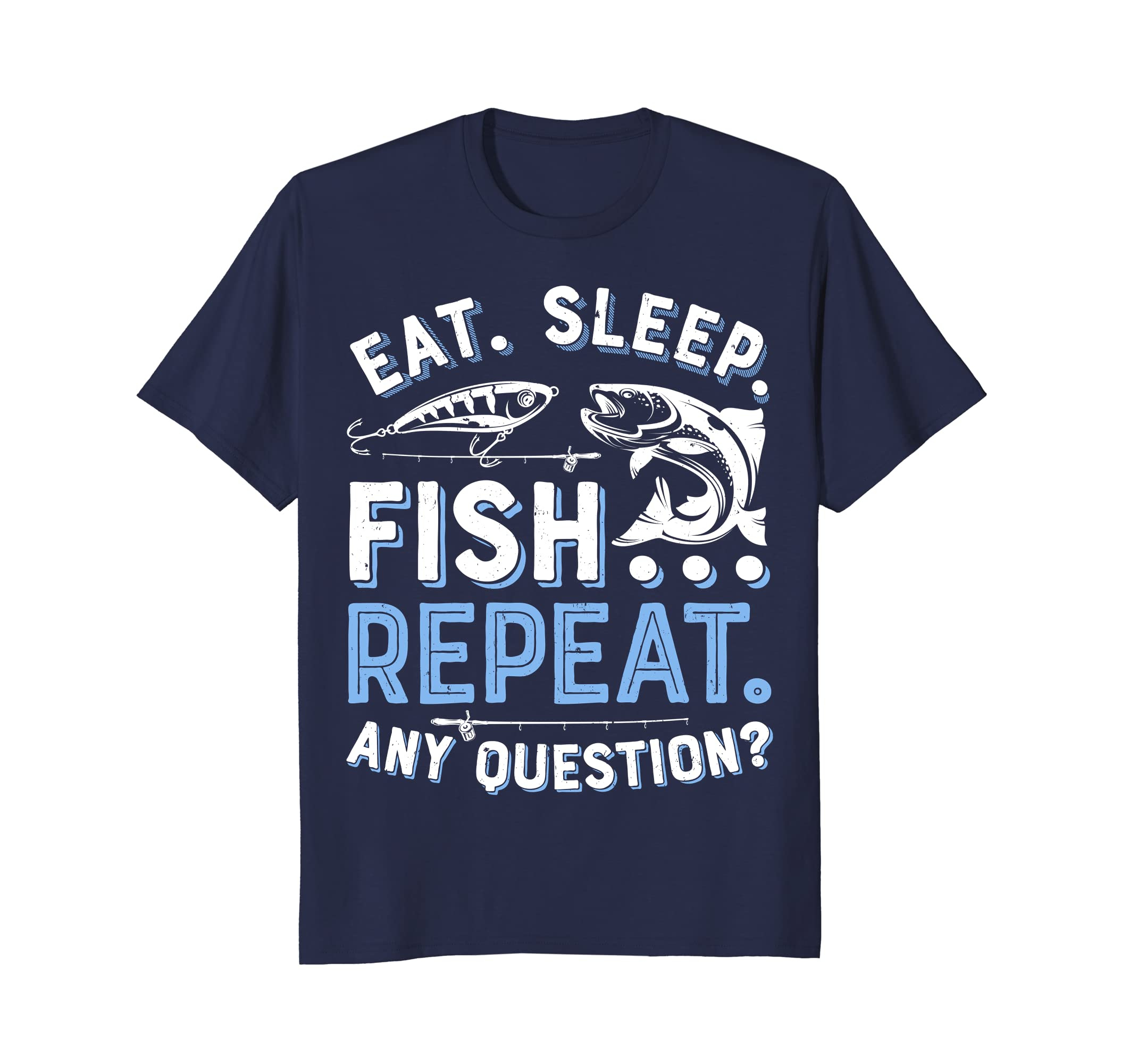 382443ec Eat Sleep Fish Repeat T shirt Men Women Kids Fishing Boys-ah my ...
