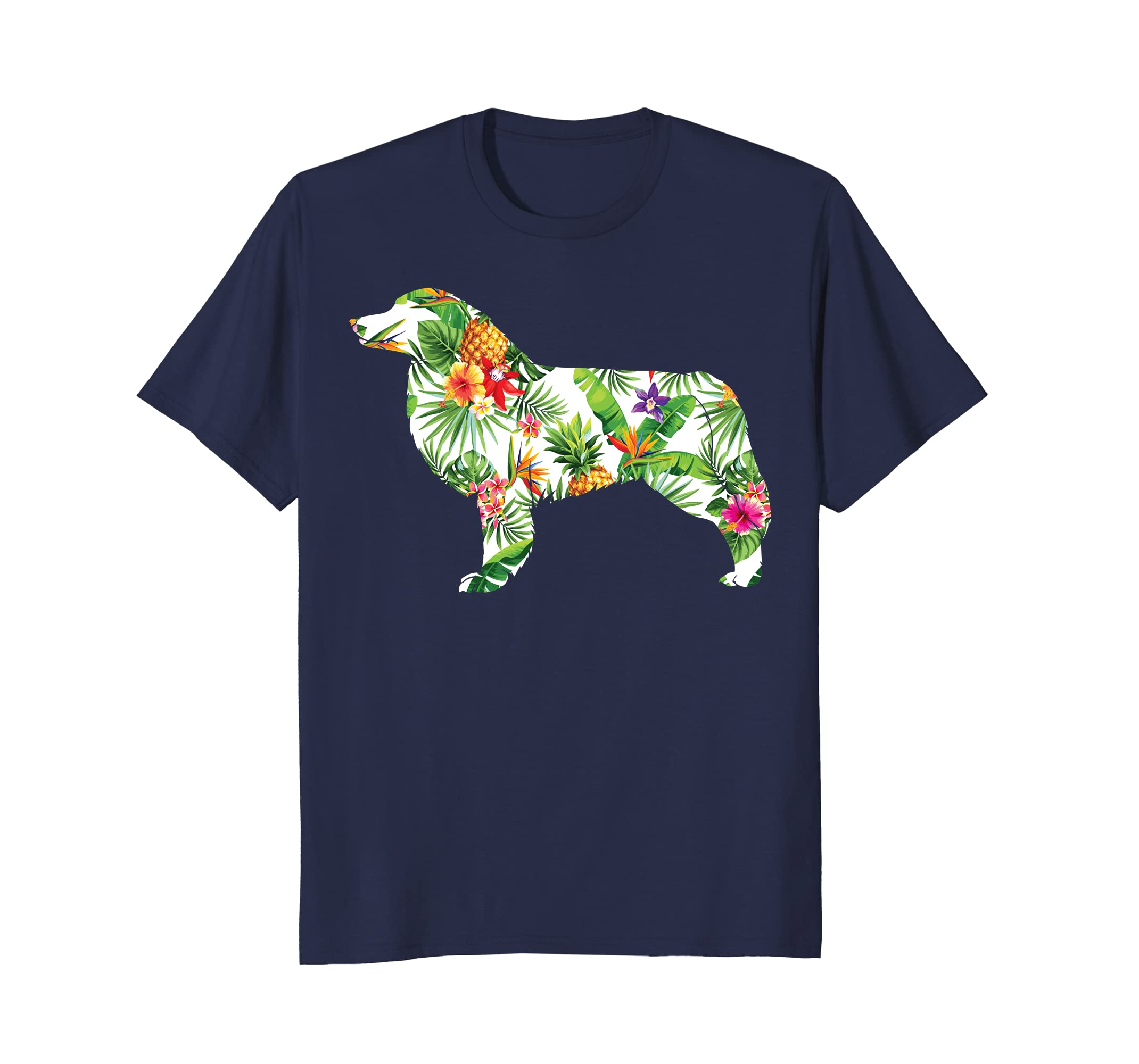 Aloha Aussie T-shirt Hawaii Dog Silhouette Shirt-AZP