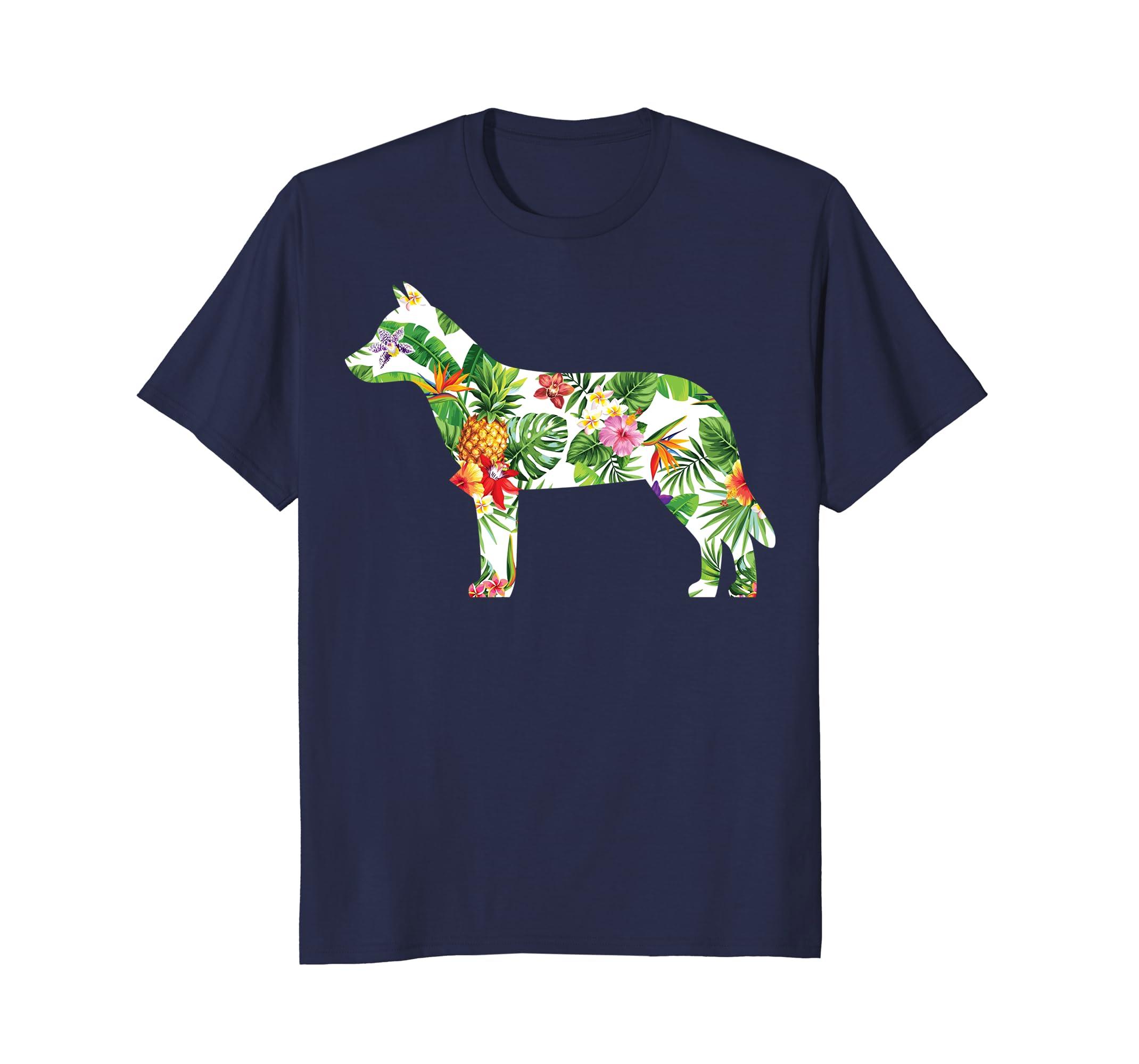 Aloha Australian Cattle Dog T-shirt Hawaii Dog Silhouette-AZP