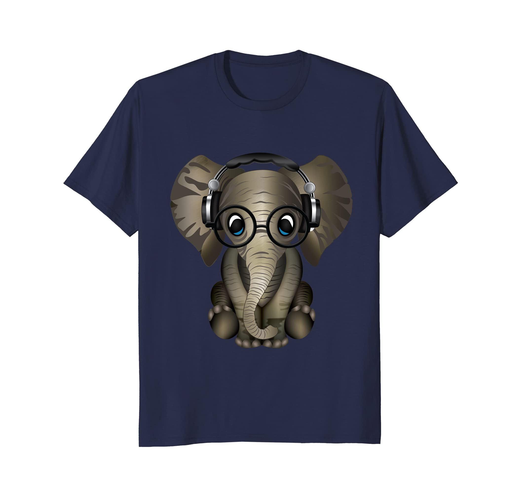 Baby Elephant DJ Gift Shirt Ladies Men Women Kids-AZP