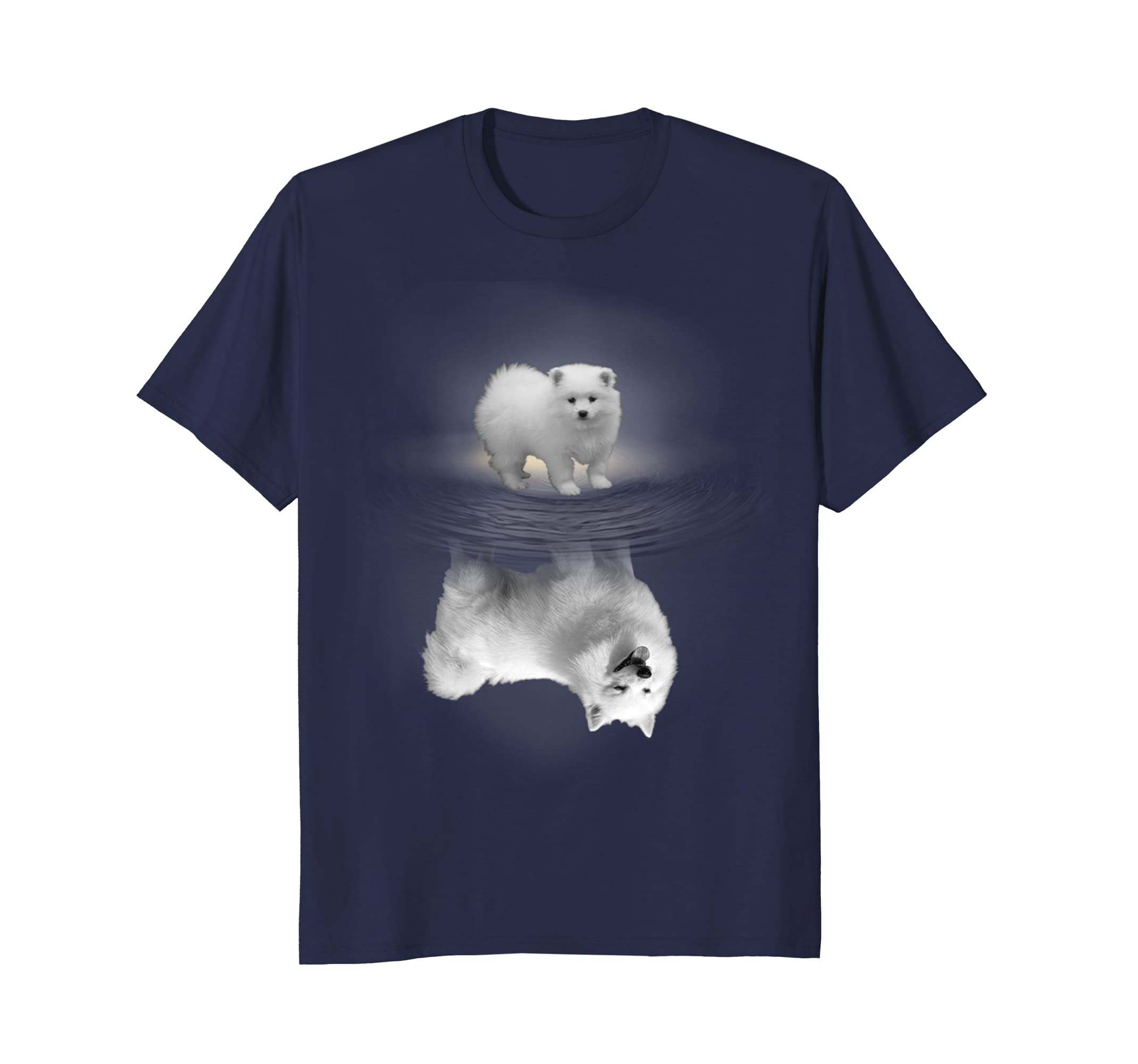 American Eskimo Dog Reflection T-shirt-AZP