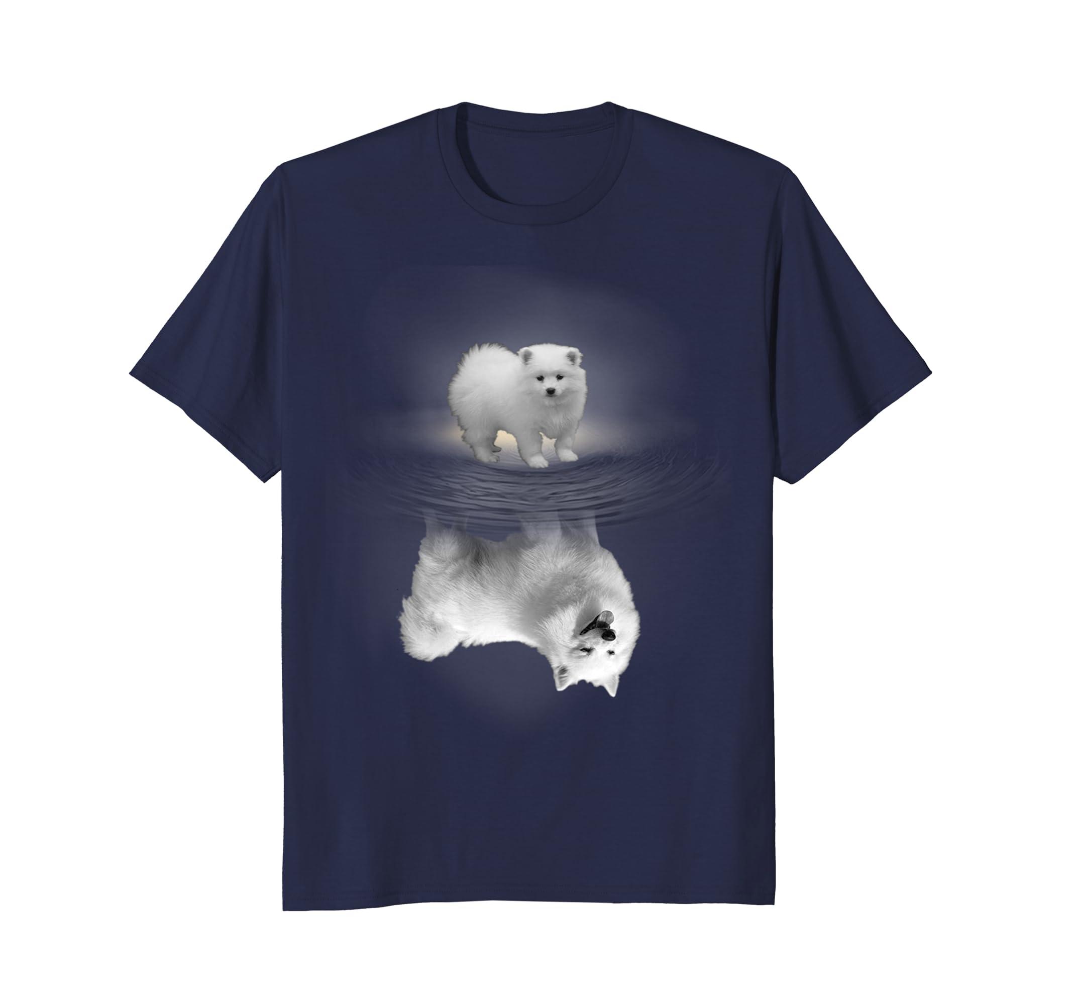 American Eskimo Dog Reflection T-shirt-AZP