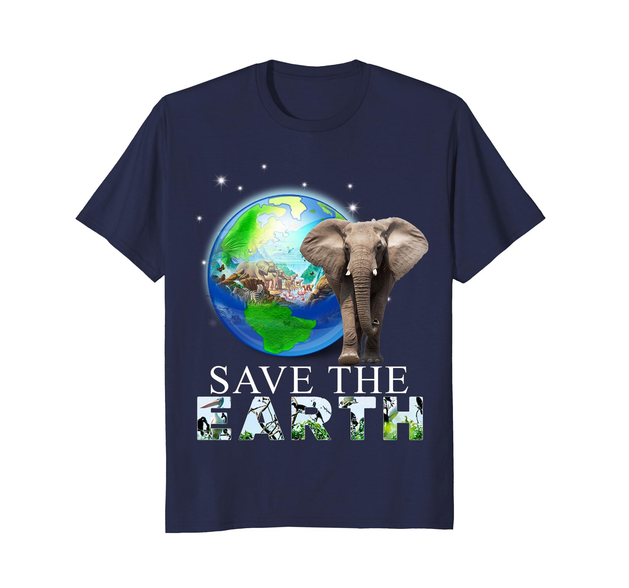 Elephant Earth Day Funny Tshirts-AZP
