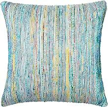 """Loloi Loloi-PSETP0242BBMLPIL3-Blue/Multi Decorative Accent Pillow 22"""" x 22"""" Cover w/Poly, 22"""" x 22"""", Blue/Multicolor"""