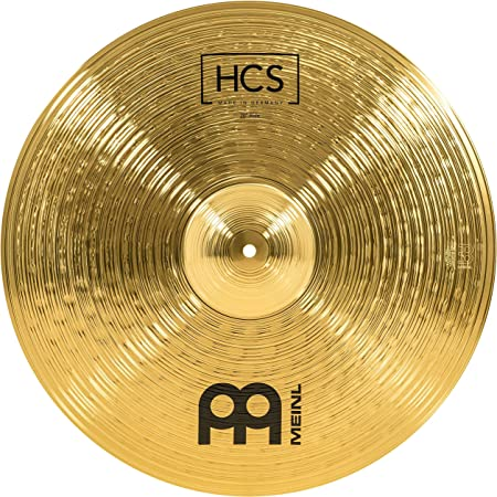 "Meinl 20"" Ride Cymbal - HCS Traditional Finish Brass for Drum Set, Made in Germany, 2-YEAR WARRANTY (HCS20R)"