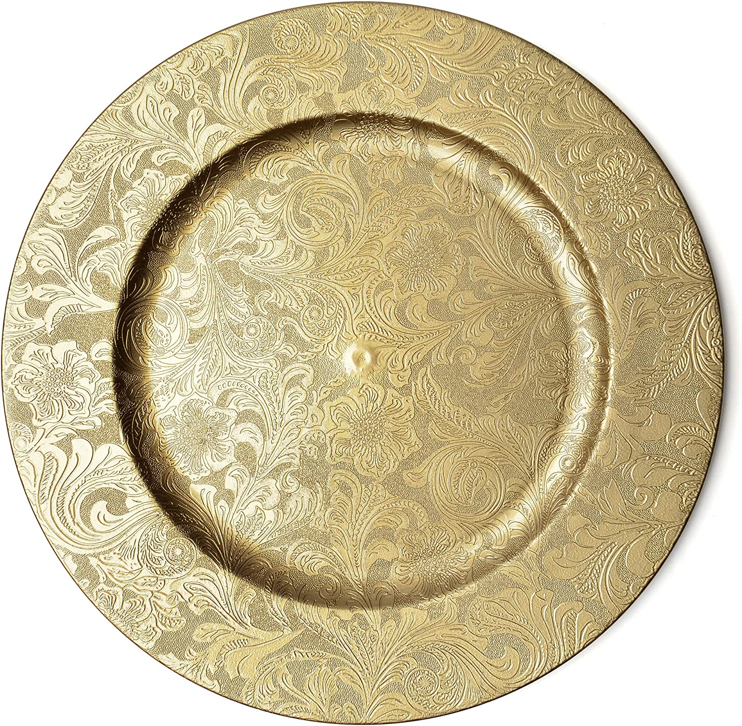 Gold Floral Charger Plates Chargers – 2021 autumn Nashville-Davidson Mall and winter new –13-Inch Elegant