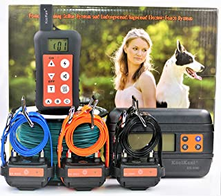 Remote Dog Training Shock Collar & Underground/in-Ground Electronic/Electric Dog Containment Fence System Combo