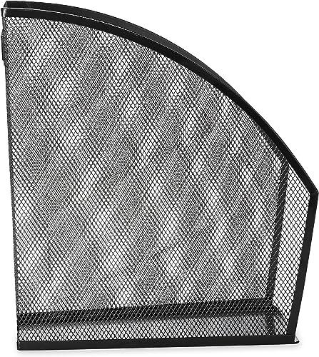 compra limitada Standard Rolled Mesh Steel Magazine File, 4 4 4 7 8 x 10 1 2 x 11 3 4, negro  mejor oferta