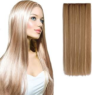 "OneDor 24"" Straight Kanekalon Futura 3/4 Full Head Clip in Hair Extension (27H613)"