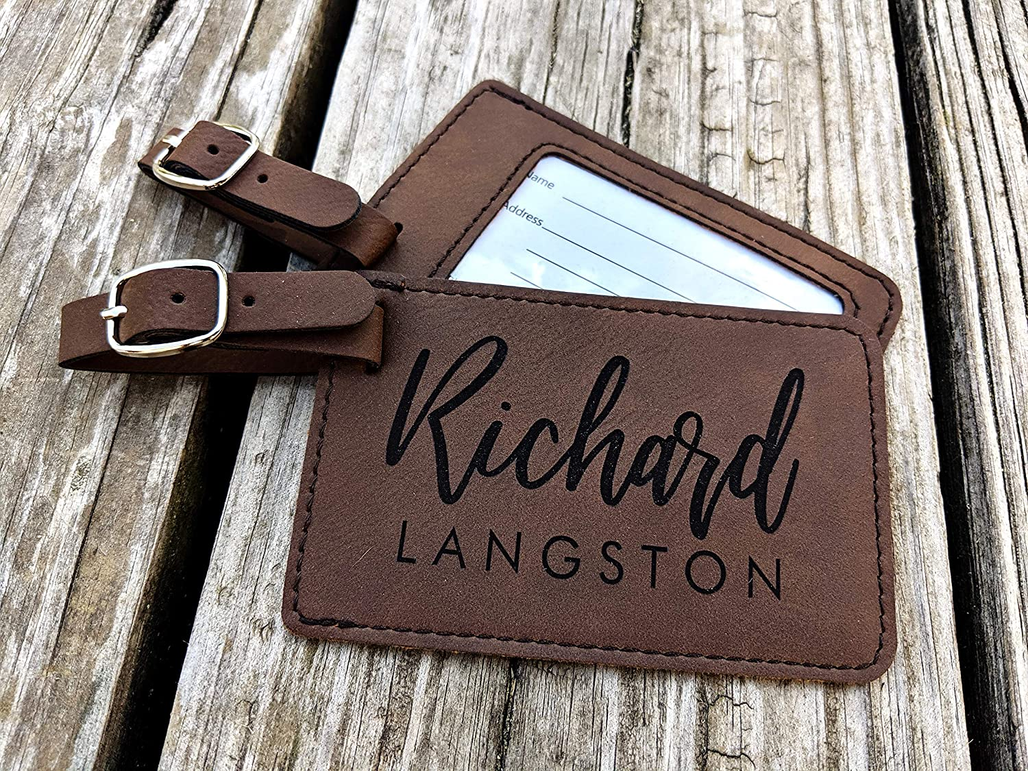Personalized Luggage Tag. Engraved Custom for Gift Wome free shipping Traveler Import