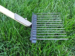 Jibber Gear Perfect for Grass, Lawn Saver Design, 48  Solid One Piece Handle - Pooper Scooper- Handmade in The USA.