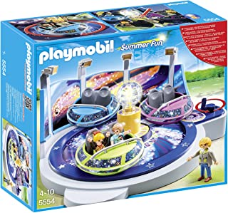 Playmobil Summer Fun Amusement Park Spinning Spaceship Ride with Lights, Multi-Colour, 5554