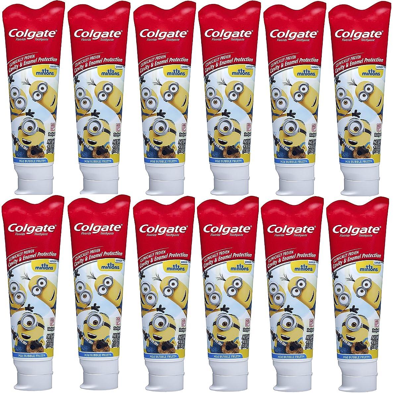 ゆり真夜中禁止するColgate キッズフッ化物の歯磨き粉、手下 - 4.6オンス(12パック)