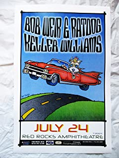 2007 Bob Weir & Ratdog Keller Williams Red Rocks Concert Poster