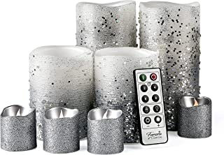 Furora LIGHTING LED Flameless Candles with Remote Control, Set of 8, Real Wax Battery..