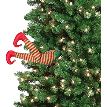 """Mr. Christmas 30462 Indoor Animated Christmas Kickers 16"""" - Elf Holiday Decoration, inch, Red"""