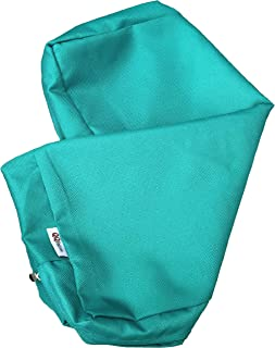 QQbed Outdoor Patio Chair Washable Cushion Pillow Seat Covers 24 X 22 - Replacement Covers Only (6Pack 24X22, Peacock Blue)