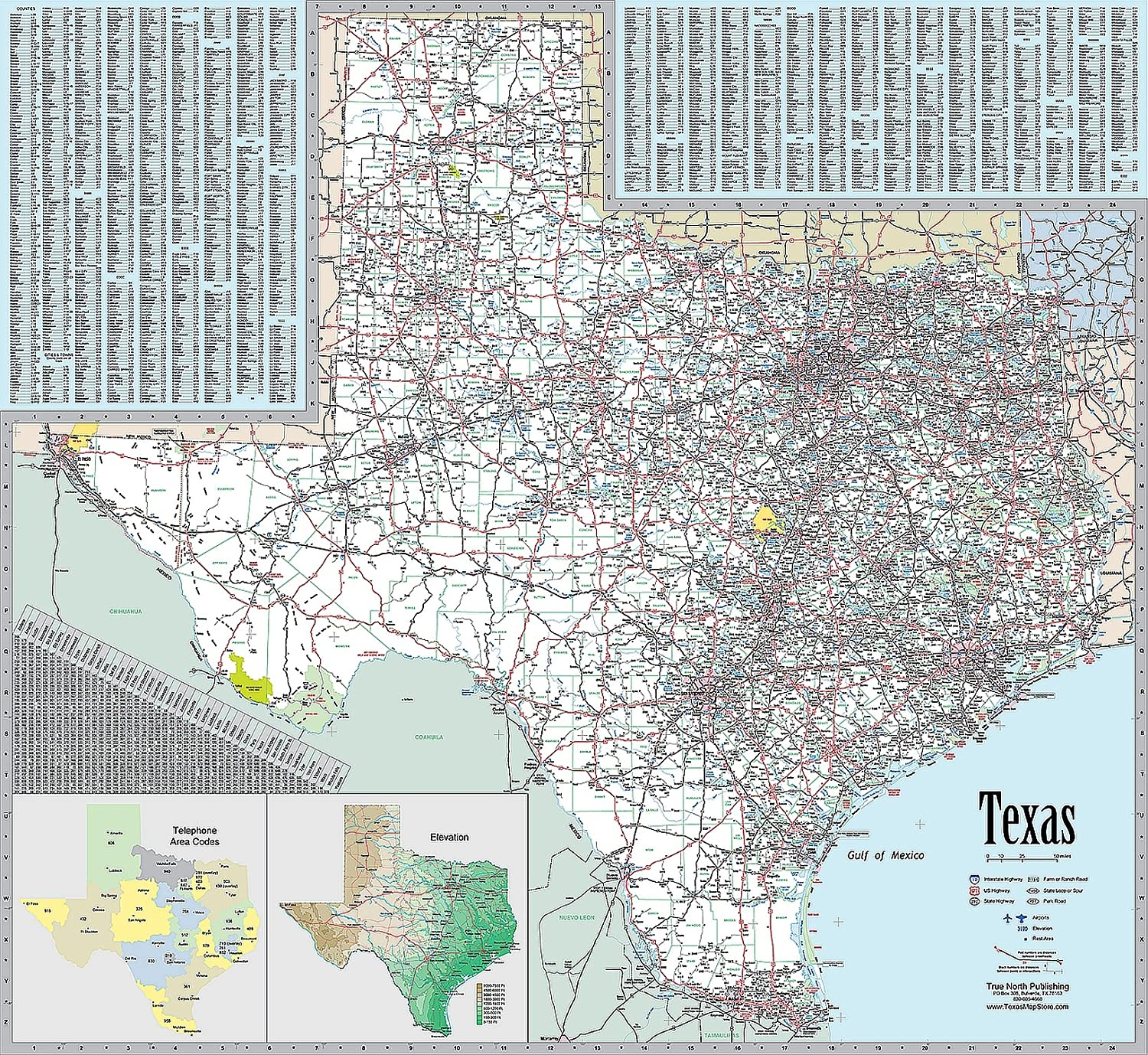 Texas Spasm price Executive Wall Map - 39h Denver Mall Laminated x 42w