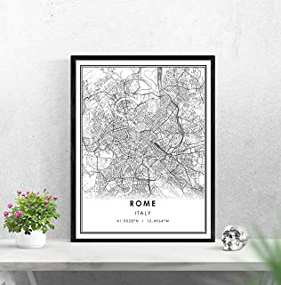Pulling Rome map Print Poster Rome City map Print Poster